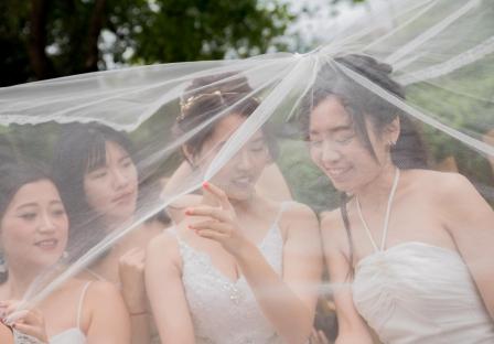《台中婚攝》 與閨蜜一同見證幸福 / 菊園日式料理婚宴會館