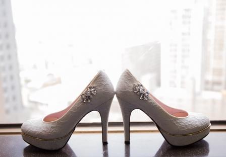 《台中婚攝》 美麗婚鞋掀開美好的婚禮帷幕 / 台中福華大飯店