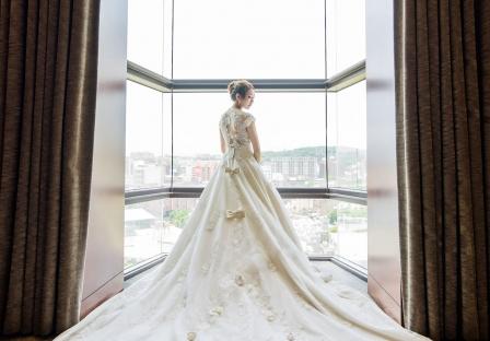 《新竹婚攝》 美麗動人的甜蜜回眸 / 新竹國賓大飯店