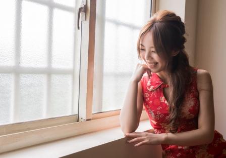 《台中婚攝》 可愛新娘的幸福笑容 / 臻愛婚宴會館豐原店