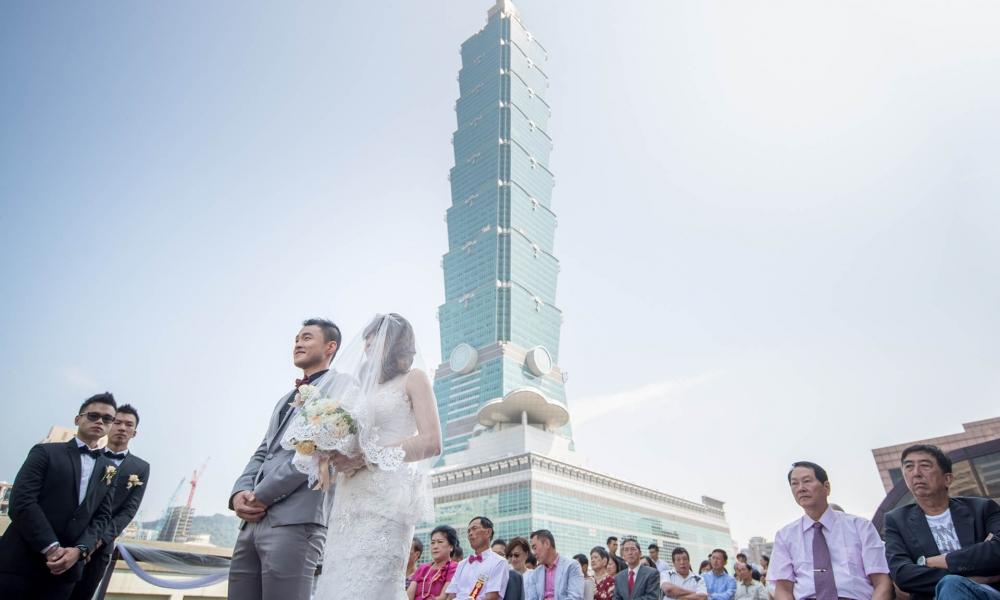 《台北婚攝》此愛連101大樓都難望項背 / 君悅酒店