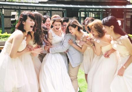 《台北婚攝》聚在一起的幸福婚禮 / 台北花卉村