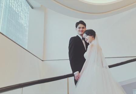 《台北婚錄》 甜蜜依偎溫暖胸膛中/ 晶華酒店