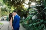 《台北婚攝》甜蜜的淺嚐彼此的唇 / 青青食尚花園會館